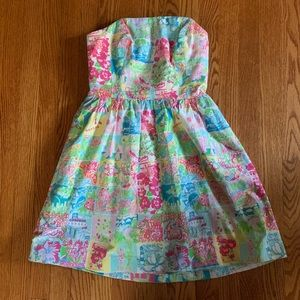 Lilly Pulitzer Strapless State of Mind Dress